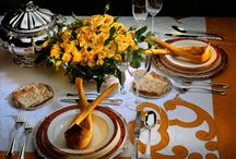 Classic table settings / Cutlery and table settings