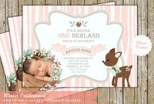 Woodland themed first birthday for girls