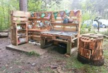 Mud kitchen for the boys