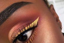 MAKE AMARELA / Maquiagem amarela na pele negra;  Yellow makeup on dark skin;  #maquiagem #amarelo #pelenegra #pele #negra #makeup #yellow #darkskin #dark #skin