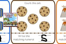 Matching Numerals to Sets / Lessons, activities, and centers for matching numerals to sets or matching numbers to sets for prek, kindergarten, first grade, and second grade classrooms.