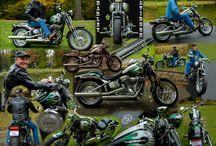 Harley Davidson Motorcycle / John with his Harley Davidson Motorcycle