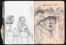 Sketchbooks / sketches from different books