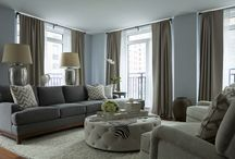 Blue-gray rooms