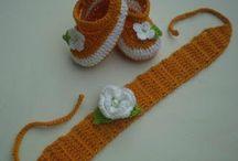 Faixa e Sapatinho/ Pink Crochê / Sapatinho e Faixa de cabeça em crochê para bebê.  www.pinkcroche.blogspot.com.br