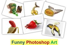 Funny Photoshop Art | Art of Photoshop / Most of the time Photoshop is used to enhance a picture. Here is some of Photoshop Art, these wow pics makes you happy. Collected Funny Photoshop Art,Funny fruits art,amazing funny art,height of art.