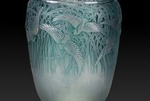 René Lalique Art Nouveau Art Deco Glass / René Lalique (French, 1860 ~ 1945) was the most famous glass maker. Lalique's work spans both Art Nouveau and Art Deco periods and his art glass creations drew much of their influence from nature.