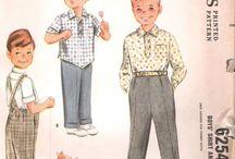 Boy's Crochet Sewing Knitting Style Patterns Inspiration / by Vintage Patterns Dazespast