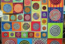 """Art Quilt, Wall Quilt, Modern Quilt? / I'm interested in figuring out what makes a piece art vs. a really nice wall hanging, vs the new """"improv"""" style art quilt?  Where is that line?  Is there a line?"""