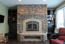 Edmonton Area Fireplaces / Choosing the right spot and style of fireplace for a room can be tricky.  These fireplaces have been custom built, featured by additional features through renovations, or swapped out from an old dated model with a new more efficient model.