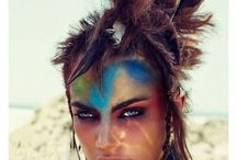 Tribal Fitness / Tribal hair and makeup /fitness model fusion