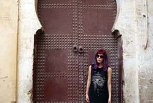 Morocco Travel Blog! Marrakesh, Fez architecture, tiles, fashion / La Carmina in Morocco. See all her Fez, Marrakesh and Berber village travels at http://www.lacarmina.com/blog/category/morocco/  #lacarmina #travelblogger #travelblog #morocco #maroc / by La Carmina - lacarmina.com