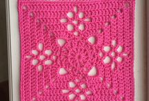 Crochet granny squares, motifs and doilies