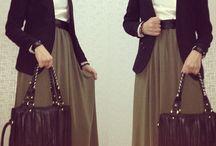 hijab maxi skirt