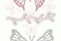szydełkowe motyle