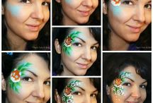 face paint step by step