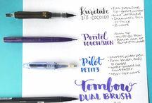 Handlettering brush