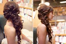 wedding make up/hair