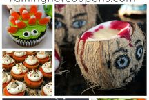 Halloween Treats & Eats / Fun and spooky sweet and savory recipes for Halloween tricksters and parties fun.