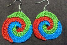 Crochet Earrings / Crochet Thread Earrings