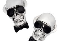 Rebel Yell: Skull Cufflinks and Accessories for Him / Luxury cufflink and accessory designs with skull, pirate and rebel themes from Jan Leslie of NYC