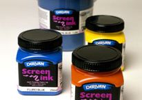 Derivan Screen Ink / Derivan Screen Ink has been formulated as a safe, non-toxic silk screen printing ink for fabric and Tie Dyeing. It can be used in the classroom or at home safely without the worry of being exposed to harmful solvents such as white spirits, turps or thinners. Derivan Screen Ink is water-based and washes up in water (before it is heat set) but has excellent rub resistance and lightfastness once heat set.  http://www.derivan.com.au/derivan-products/silkscreen-printing-ink.html