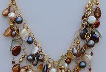 Semiprecious necklaces