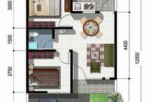 Denah Rumah Tipe 36 Minimalis Modern