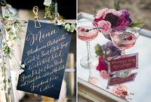 WEDDING PALLETTE  | Berry & Gold