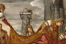 Тинторетто (Якобо Робусти) родился в 1518/1519 г. в Венеции. / Тинторетто, восхищался блеском и силой Тициановских красок, а в стремлении к совершенству рисунка опирался на наследие Микеланджело. Он, взяв от них лучшее, создал свой стиль, отличием которого стала живая драматичность композиции, смелость мастерского рисунка, своеобразная живописность в распределении света и теней, теплота и сила красок, широкий приём письма. Вскоре Тинторетто приобрел громкую известность наравне с Тицианом и Паоло Веронезе.