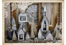 Glittery Village and Bottle Brush Tree Forest / by Karen Henderson