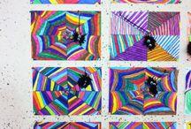 Ku-Projekt: Spinnennetz mit pompös-Spinne