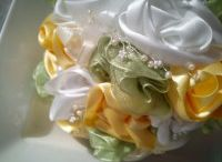 Nice wedding ideas / Nice wedding roses, flowers, pieces, hair accessories. Awesome wedding handmade ideas and best fabric bouquets