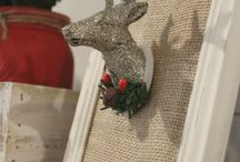 christmas decor deer head frame