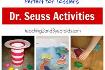 Preschool-March / Dr. Seuss, St Patrick's Day, signs of spring, Dinosaurs