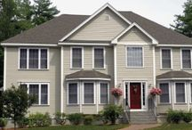 Shake Siding /  Shake siding can be used on any home and will stand out in your neighborhood. If you are looking for the wood shake look but want something durable and long lasting, than shake siding is your best choice.