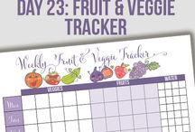 Grocery Check lists & Meal/Recipe Planner pages