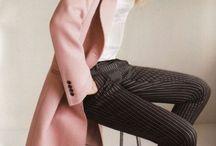 Pin striped pants