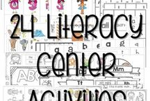 Literacy Centers / Literacy center and station ideas for kindergarten and first-grade students.  Your classroom will enjoy these phonics, phonemic awareness, sentence work, and sight work activities.  Management ideas and fluency work skills are included.