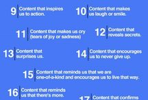Content Marketing / Value is created through the content you provide your audience. Written, visual, or audio.
