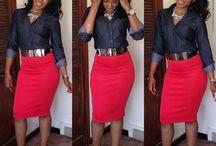 Fashion pencil skirts