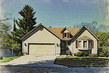 Front of Home as Art / Taking liberty into making curb appeal into an new art form.  What if?