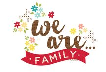 We Are...Family / Document your favorite family memories with We Are...Family.  Bright colors, flirty florals and loving sentiments paired with dark wood & embroidery accents are sure to make this a 'go to' collection.  There's no place like home when youre creating with We Are...Family!