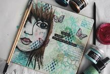 Cindy Wille / Art from the amazing Cindy Wille using Lindy's products