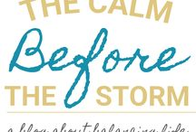The Calm Before the Storm / My personal blog about the daily happenings of the Olvera family.