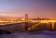 Lisbon/San Francisco / Golden gate and 25 de Abril bridges. They started building our bridge 50 years ago.