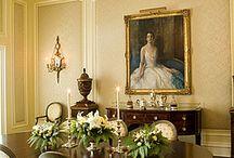 Antique Interior Dining Rooms