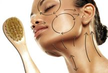Skin care with dry brushing