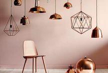 lounge ideas grey & copper
