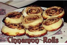 Cinnamon Rolls / 500 g de harina de panadería, 1 cucharada de levadura de cerveza en polvo ó 25 gr. de levadura fresca, 2/3 tazas de azúcar, 1/2 cucharadita colmada de sal fina, 50 g de margarina, 1 huevo, 1 1/4 tazas de agua.